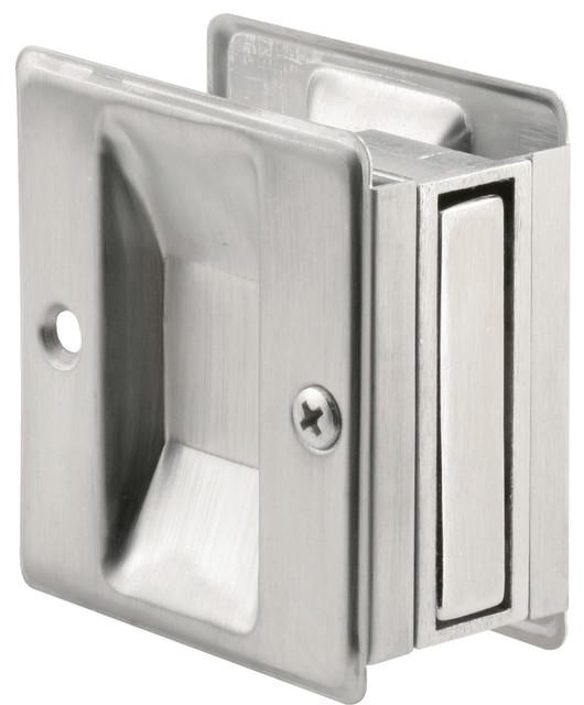 Prime-Line N 7079 Pocket Door Passage Pull, Satin Chrome