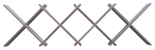 X-Board Large Modular Wall Shelf, White, 8 Units