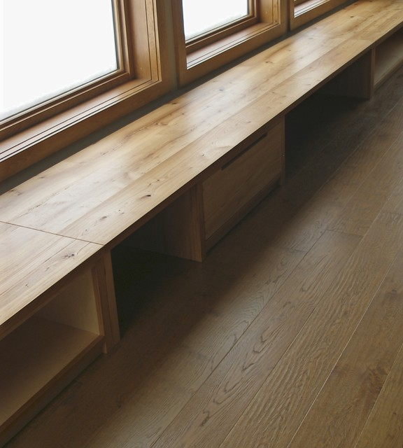 custom made reclaimed built in bench window seating contemporary living room built furniture living room