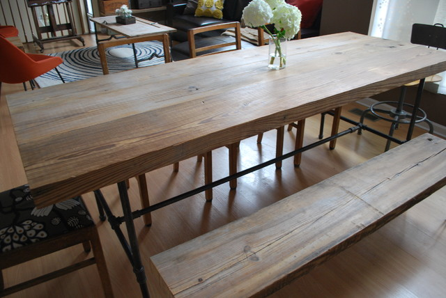 Reclaimed Wood/Pipe Industrial Dining Table