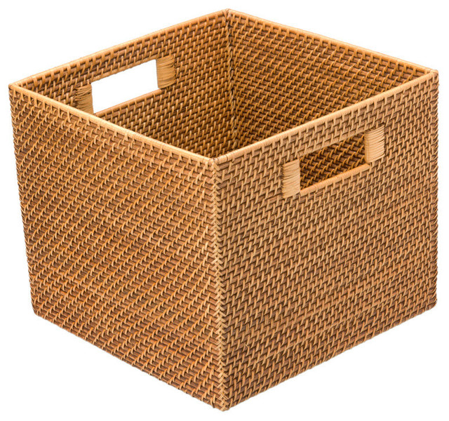 Square Rattan Utility Basket Tropical Baskets Other