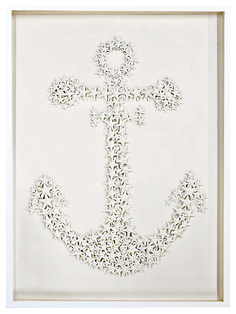 sanibel coastal starfish anchor wall decor 325 inch karen robertson beach style - Coastal Wall Decor