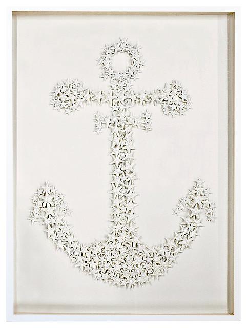 Sanibel Coastal Starfish Anchor Wall Decor - 32.5 Inch - Karen Robertson  beach-style-
