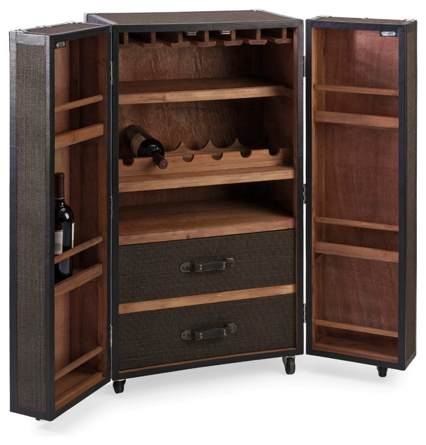 bar trunk furniture. schultz rolling wine trunk traditionalwineandbarcabinets bar furniture i