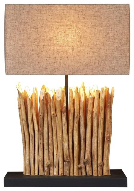 Natural Branch Table Lamp - Beach Style - Table Lamps - by Natural ...