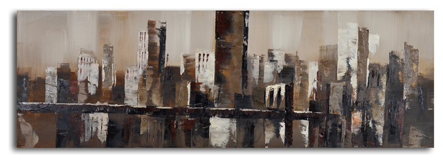 Chocolate City Skyline Hand Painted Canvas Art