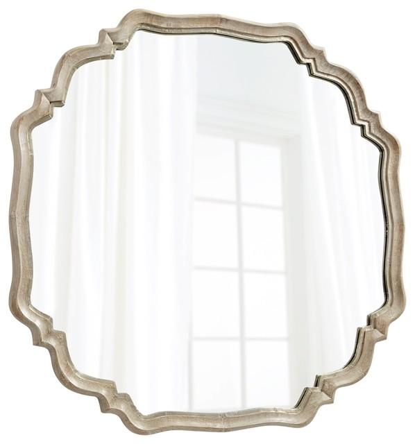 Cyan Design 08229 Medallion Mirror, White Patina.