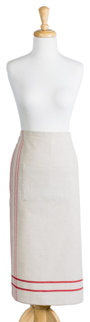 DII Red French Stripe Bistro Apron