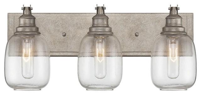Bathroom Lighting Nyc orsay 3-light bathroom vanity lights in industrial steel