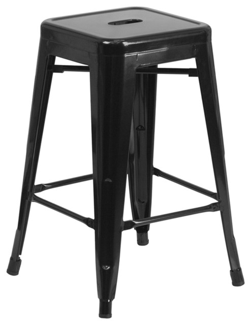 Flash Furniture 24h Backless Black Counter Height Stool