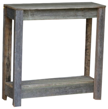 Wooden Console Table, Natural Farmhouse Console Tables