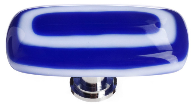 Luster Cobalt Long Knob - Contemporary - Cabinet And Drawer Knobs - by Sietto