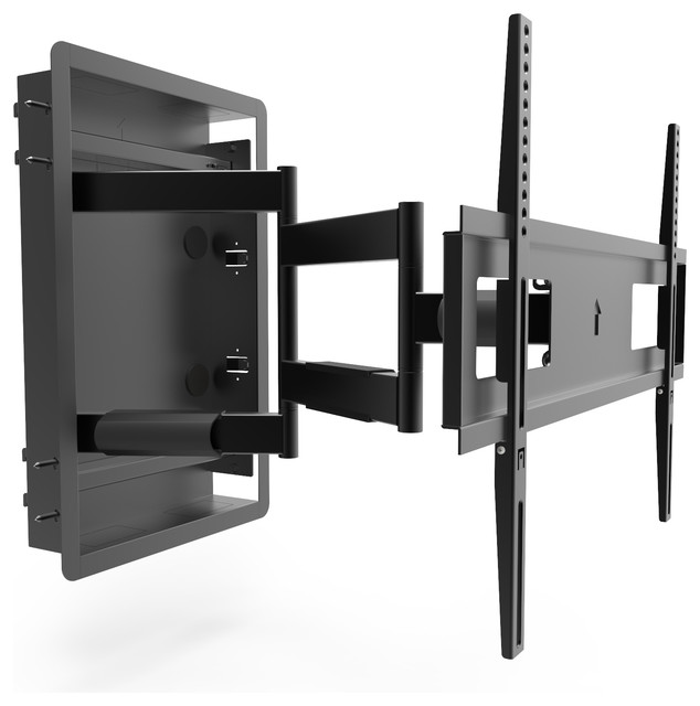 R500 Recessed In Wall Full Motion Tv Mount For 46 80 Tvs Contemporary Entertainment Centers And Stands By Kanto