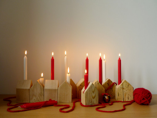 Christmas House Candle