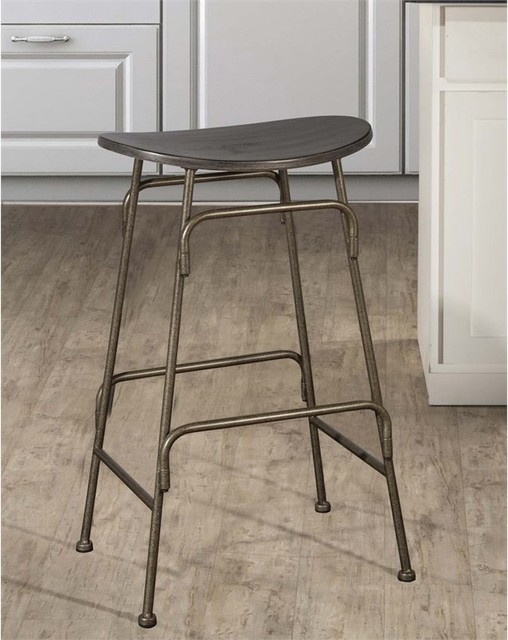 Mitchell Non Swivel Backless Counter Stool