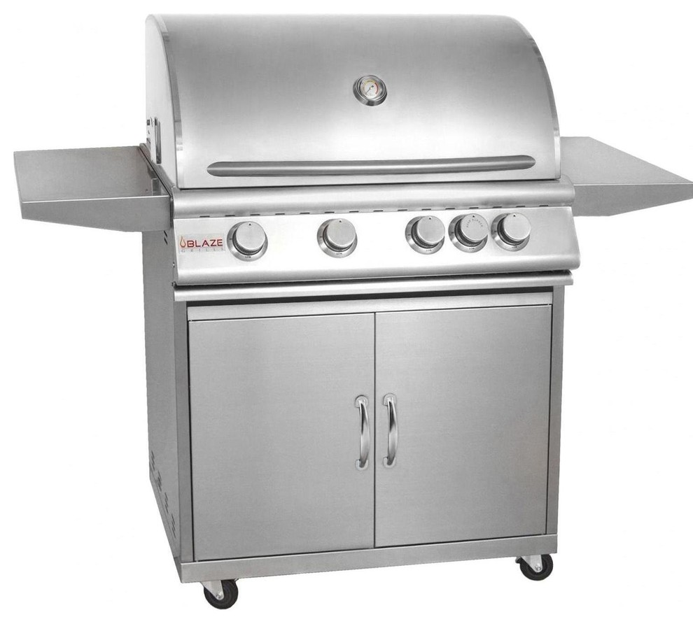 """Blaze Outdoor Products 32"""" 4-Burner Propane Gas Grill With ..."""