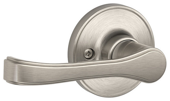 schlage torino satin nickel passage lever set - Schlage Door Hardware