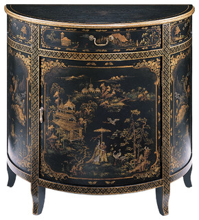 Shop Houzz | Inviting Home Inc Hand-Painted Oriental Cabinet - Accent Chests And Cabinets