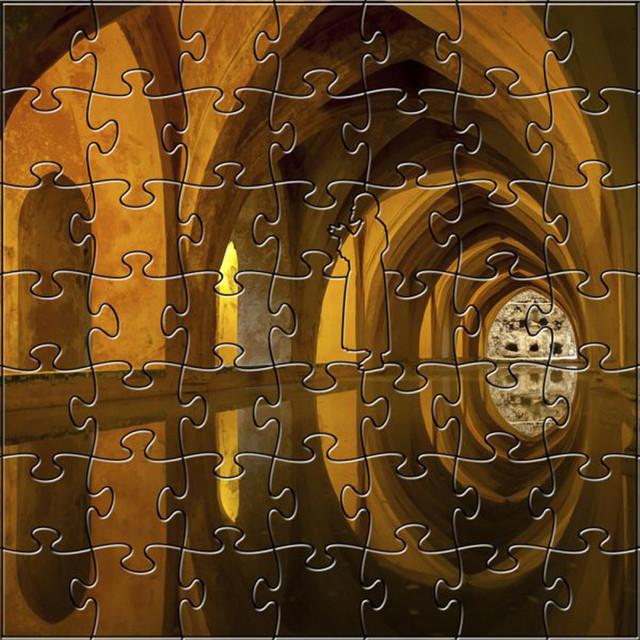 Zen Art, Design Artisanal Wooden Jigsaw Puzzle Bath In Alcazar, 204 ...