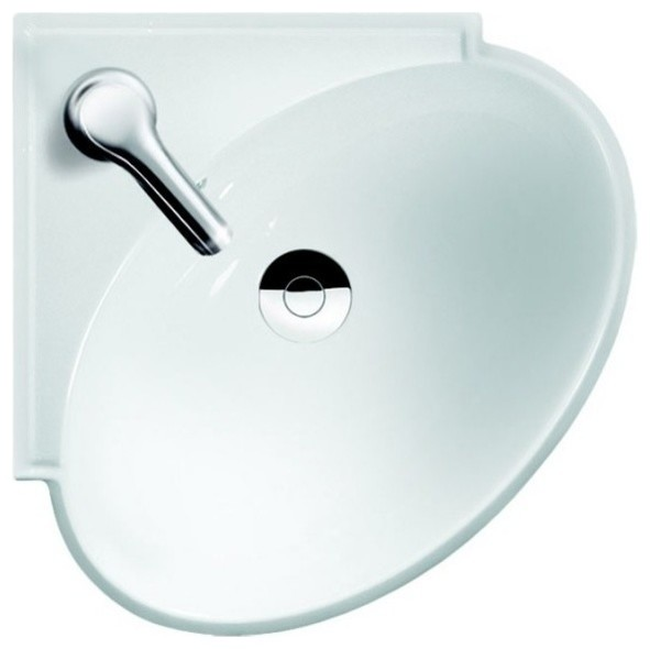 Round Ceramic Corner Bathroom Sink Contemporary Bathroom Sinks By Kitchen Bath Authority Houzz
