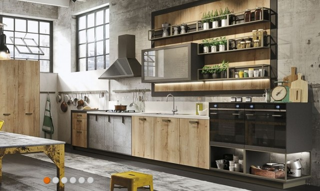 Cucina industrial design for Arredamento industriale ikea