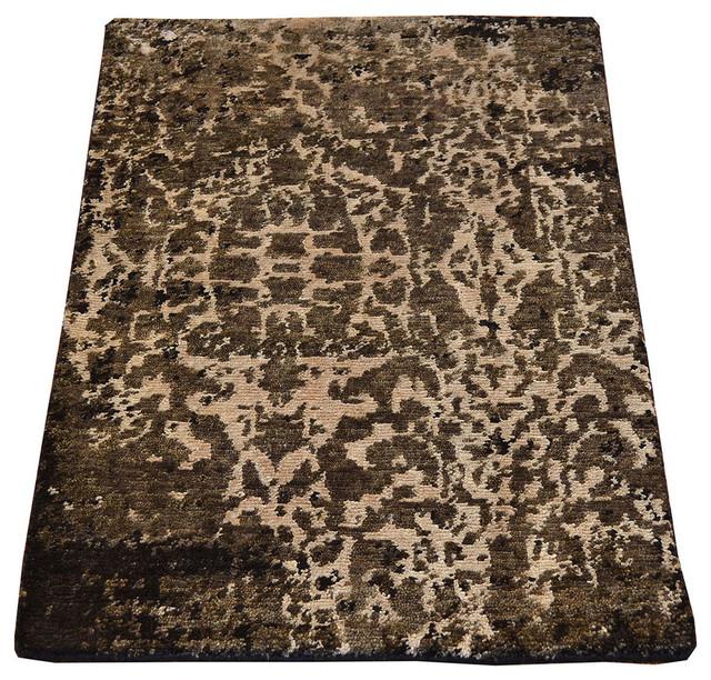 Wool Silk Rugs Contemporary: 1800 Get A Rug Area Rug Modern Mat Wool And Silk Hand