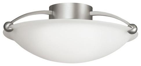 Semi Flush 3-Light Brushed Nickel.