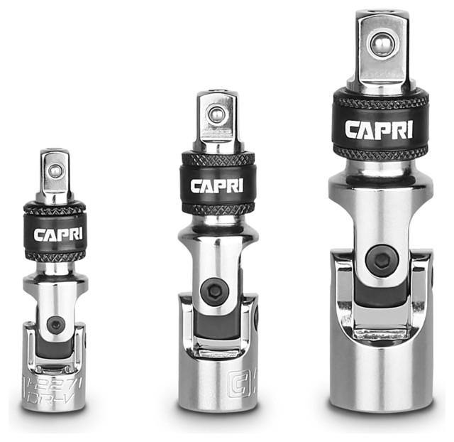 Capri Tools Quick Release Universal Joint Set, 3-Piece Set
