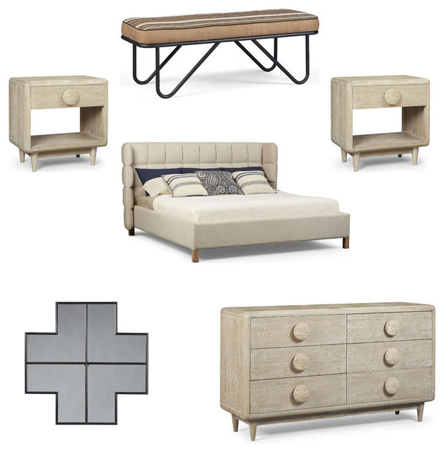 Transitional Bedroom Furniture: Epicenters Austin 6-Piece Bedroom Set