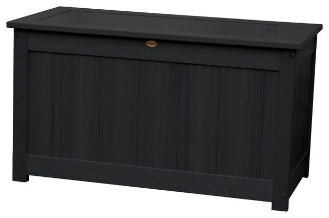 Sauville Deck Storage Box, Black