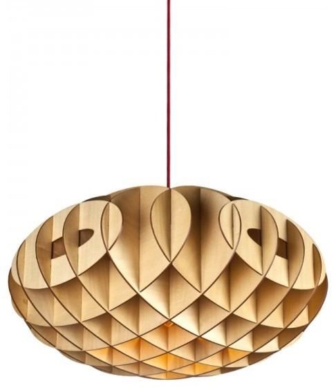 Creative Wood Puzzle Pendant Lamp contemporary-pendant-lighting