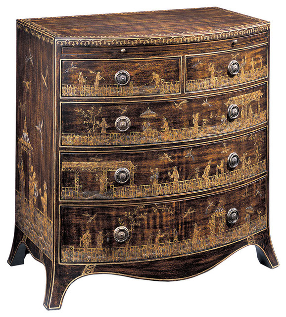 Hand-Painted Chest With Pull-Out Shelf.