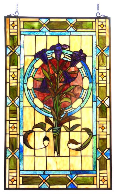 Chloe Lighting Tiffany Gl Tulips Design Window Panel