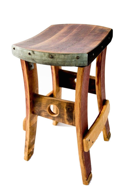 Wine Barrel Barstool No Backrest Rustic Outdoor Bar Stools And Counter By Fallen Oak