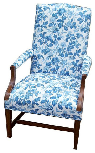 Blue And White Floral Lolling Chair   $1,800 Est. Retail   $600 On Chairish.
