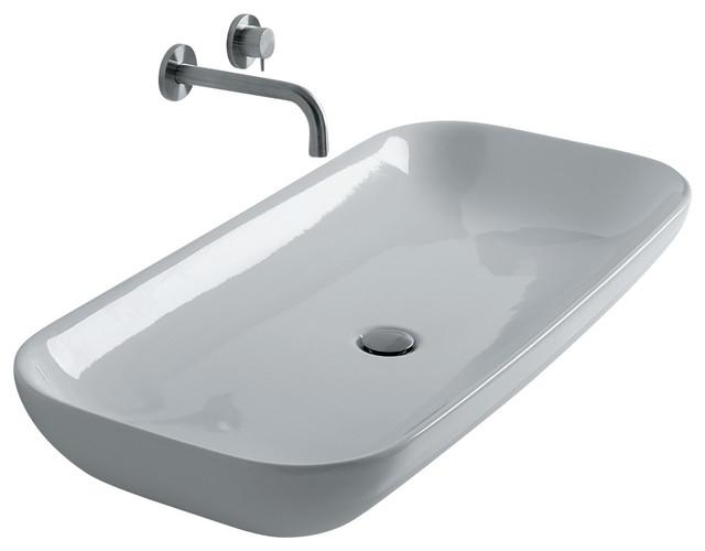 Ciotola Vessel Bathroom Sink, 39.4 L X 18.1 W.