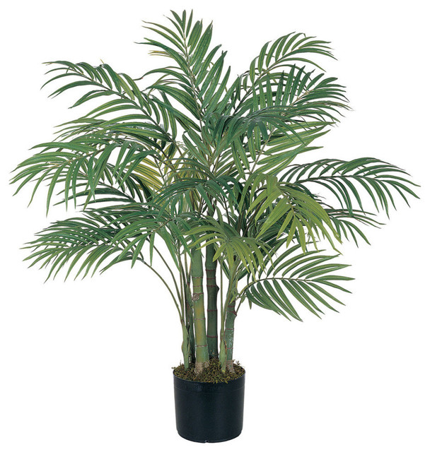 nearly natural home garden decor 3' areca silk palm tree green Artificial Plants and Trees