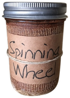 8oz. Primitive Candle, Spinning Wheel - Candles - by Black Crow Candles