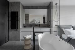 Проект недели Спальня с ванной в центре комнаты (10 photos)