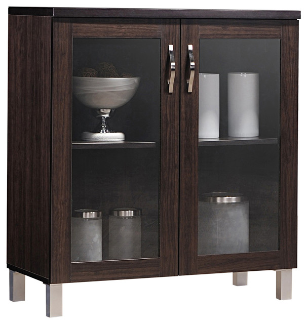 Sintra And Dark Brown Sideboard Storage Cabinet With Glass