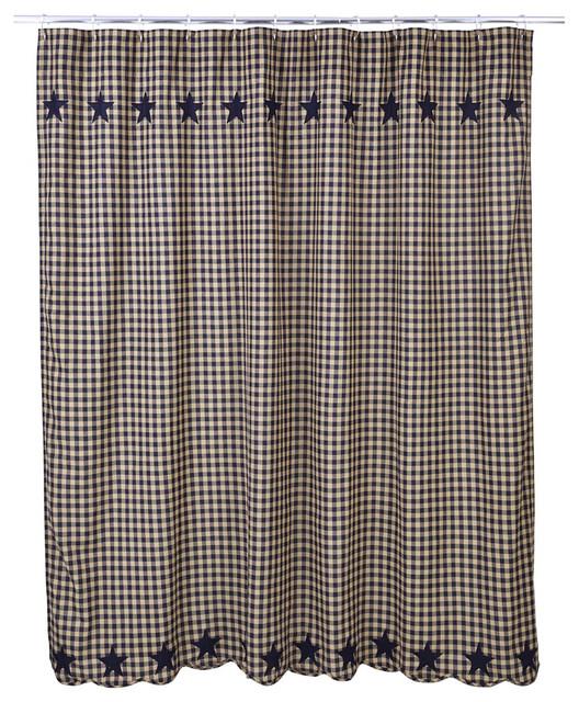 Navy Star Shower Curtain 72x72