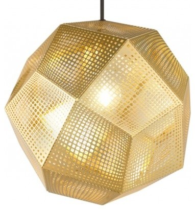 Etch Shade Pendant Lamp, Gold, Small.