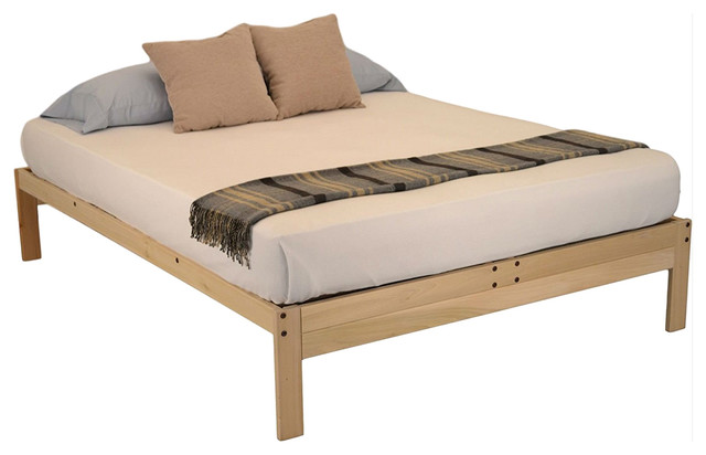 Twin Xl Solid Wood Platform Bed, How Long Is A Extra Twin Bed Frame