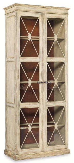 Sanctuary Two-Door Thin Display Cabinet Dune - Traditional ...