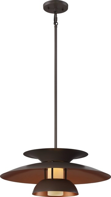 Nuvo Atom Copper Bronze Transitional Led Pendant Light W/ 1 Led Light - 62/599.