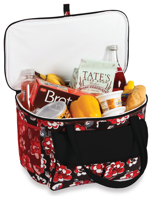 Avanti Cooler Tote, Red Carnation.