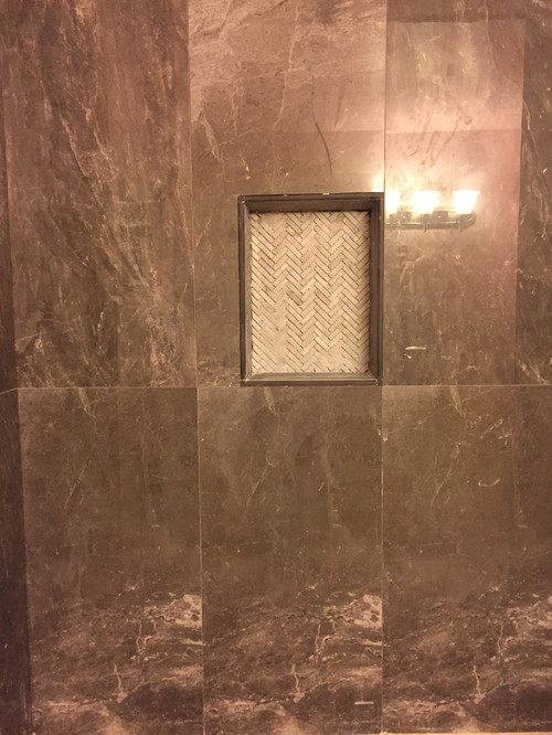 I Used 18x36 Tiles For My Shower Walls But I Placed 14X18 Shower Soap