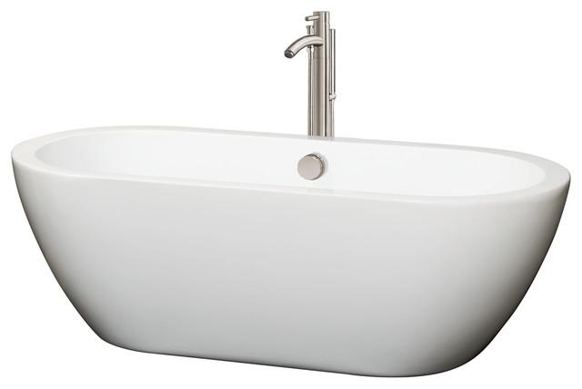 Soho Freestanding White Bathtub With Drain And Overflow