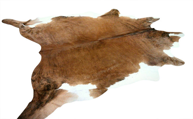 Classic Cowhide Rug Medium, Brown/white/brindle/tan.