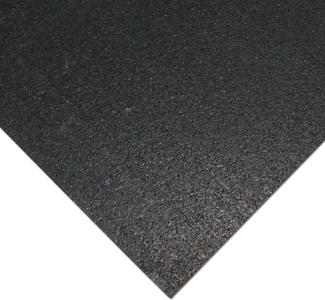 Rubber Cal Quot Elliptical Mat Quot Heavy Duty Rubber Mat Black